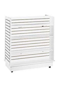 24 x 48 x 48 inch White Slatwall Gondola with 6 Shelves