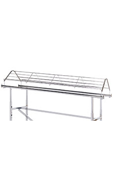 Chrome Shoe Topper for Double-Rail Clothing Rack