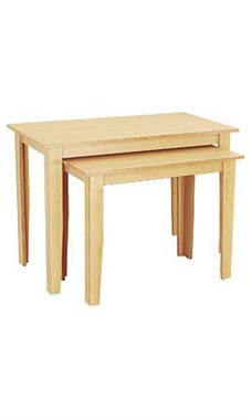 Maple Nesting Melamine Tables