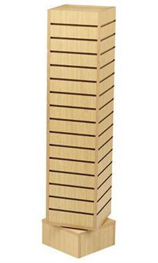12 inch Rotating Maple Slatwall Tower