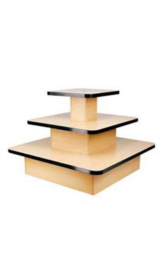 3-Tier Square Maple Table