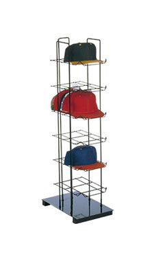 Black Countertop Hat Rack Tower