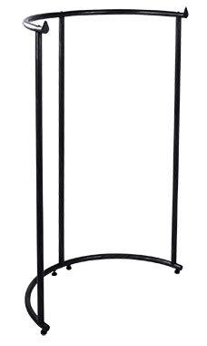 Black Half Round Clothing Rack