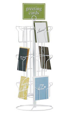 12-Pocket Rotating Greeting Card Rack