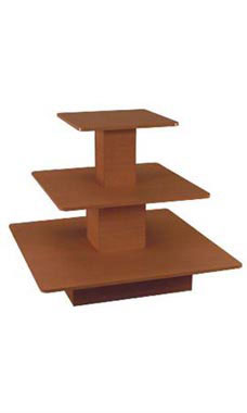 Economy 3-Tier Square Cherry Table