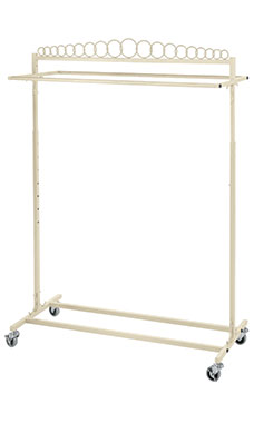 Boutique Ivory Double-Rail Rolling Rack