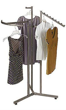 Boutique Raw Steel 3-Way Clothing Rack