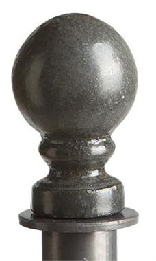 Boutique Raw Steel Ball Round Fitting Finial