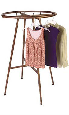 Boutique Cobblestone Round Clothing Rack