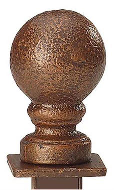 Boutique Cobblestone Ball Square Fitting Finial