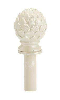 Boutique Ivory Artichoke Finial for Counter Merchandise Hooks