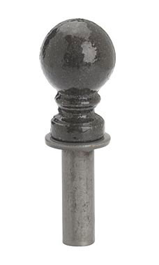 Boutique Raw Steel Ball Finial for Counter Merchandise Hooks