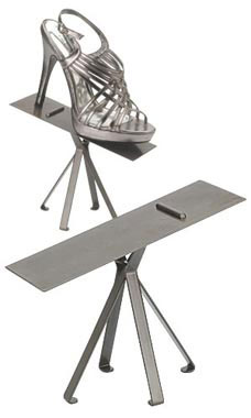 Boutique Raw Steel 6 inch Shoe Display Stand