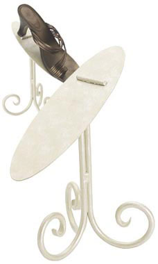 Boutique Ivory 8 inch Shoe Display Stand