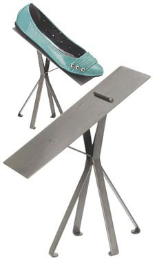 Boutique Raw Steel 8 inch Shoe Display Stand