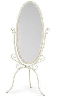Boutique Ivory Cheval Floor Mirror
