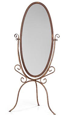 Boutique Cobblestone Cheval Floor Mirror