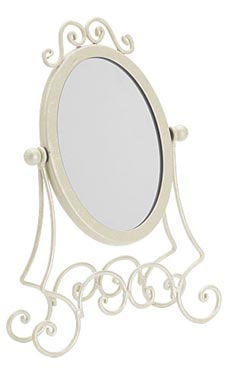 Boutique Ivory Countertop Mirror