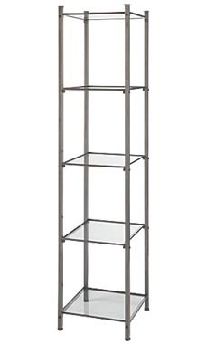 Boutique Raw Steel Open Display Tower