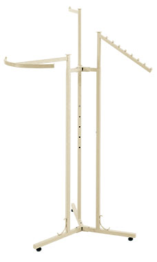 Boutique Ivory 3-Way Clothing Rack