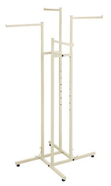 Boutique Ivory 4-Way Clothing Rack with Straight Arms
