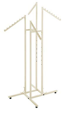 Boutique Ivory 4-Way Clothing Rack with Slant Arms