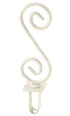 Boutique Ivory S-Shape Square Fitting Finial