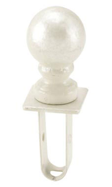 Boutique Ivory Ball Square Fitting Finial