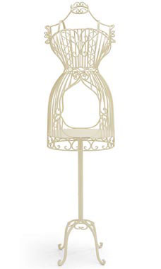 Boutique Ivory Accessory Metal Dressform