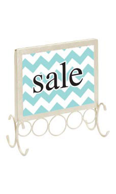 Ivory Boutique Countertop Sign Holder