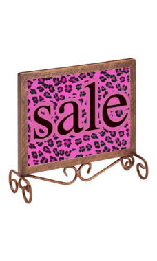Boutique Cobblestone 7 ¼ x 7 inch Countertop Sign Holder