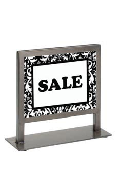 Boutique Raw Steel 7 ¼ x 7 inch Countertop Sign Holder
