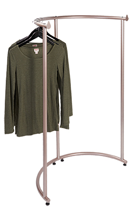 Half Round Clothing Rack Rose Gold