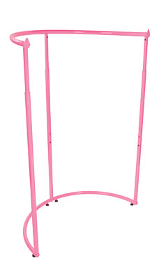 Hot Pink Half Round Clothing Rack