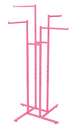 Hot Pink 4-Way Clothing Rack with Straight Arms