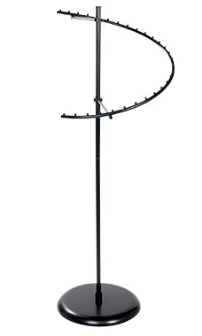 Black 29-Ball Spiral Clothing Rack