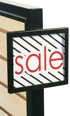 Black Add On Sign Holder
