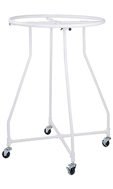 Boutique White Pipe Round Clothing Rack
