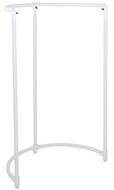 Boutique White Pipe Half Round Clothing Rack