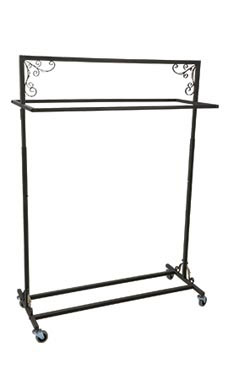 Boutique Vintage Double-Rail Rolling Rack