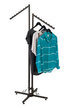 Boutique Vintage 2-Way Clothing Rack with Slant Arms
