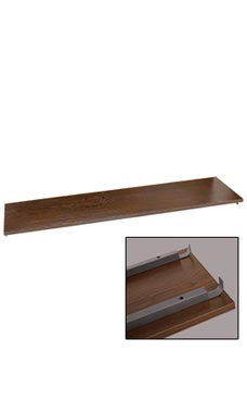 Boutique Vintage 48 inch Dark Walnut Shelf for Outrigger