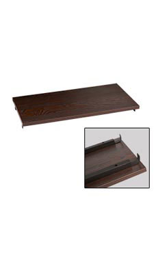 Boutique Vintage 24 inch Dark Walnut Shelf for Outrigger