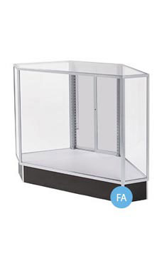 Extra Vision Corner Rear Access Black Display Case