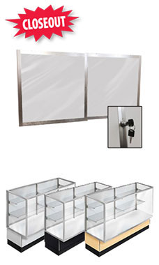 Mirror Doors and Plunger Lock Kit for 48 inch Metal-Framed Full Vision Display Case