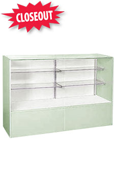 48 inch Full Vision Seafoam Green Display Case Fully Assembled