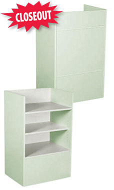 Seafoam Green Well Top Register Stand Fully Assembled