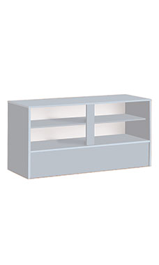"Gray 70""W Service Counter- Fully Assembled"