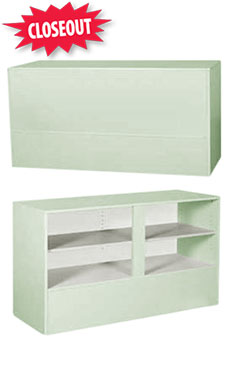 70 inch Seafoam Green Service Counter Fully Assembled