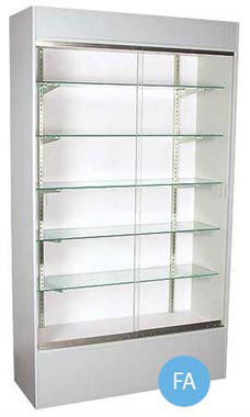 48 inch Gray Wall Unit Display Case Fully Assembled